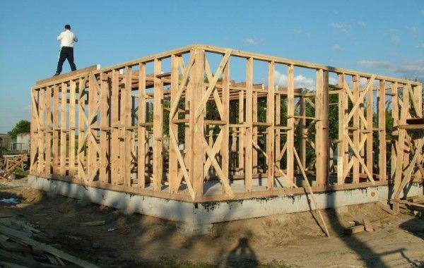 Делаем каркас стен дома 121 м2