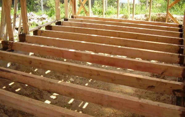 Монтаж перекрытия каркасного дома 121 м2
