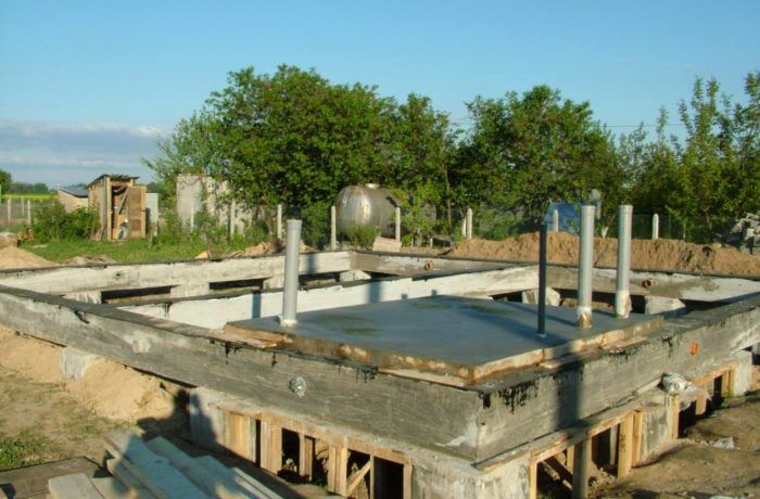 Устройство бетонного пола в ванной каркасного дома 121 м2