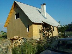 Обшитый фасад каркасного дома