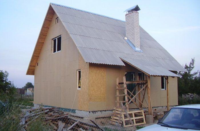 Обшиваем влагостойкой плитой каркасный дом 121 м2