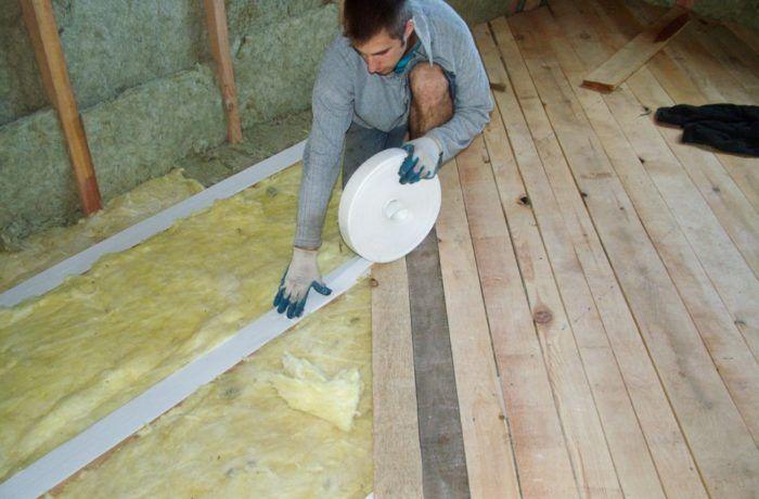Утепляем перекрытия каркасного дома 121м2