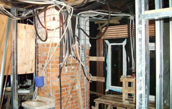 Монтаж электропроводки каркасного дома 121м2