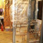 Установка полотенцесушителя в каркасном доме