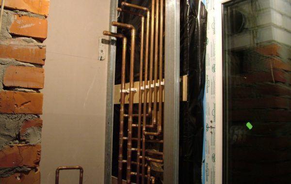 Монтаж сантехники каркасного дома 121 м2