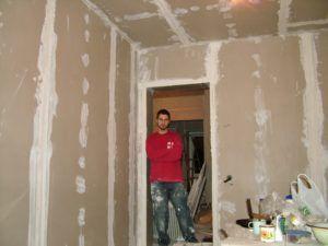 Законченная шпаклевка стен