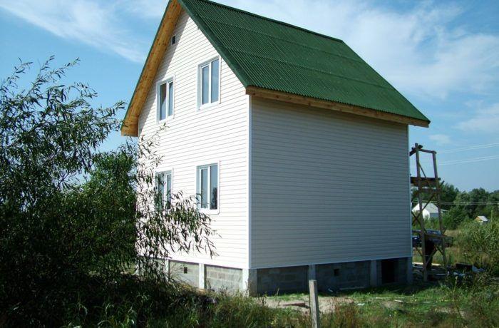 2008г Каркасный дачный дом 78 м2