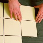 укладка плитки на модульный теплый пол