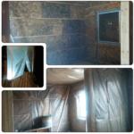 Обшивка пароизоляцией стен второго этажа