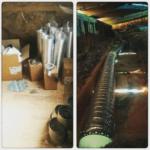 Укладка вентиляционных труб в чердачное перекрытие