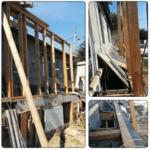 Устройство деревянного каркаса вокруг пристроки Киев