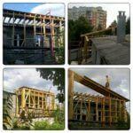 Монтаж перекрытия каркасного дома Киев