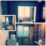 Демонтаж старой стены кухни