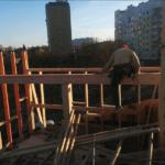Монтаж каркаса 2го этажа Киев