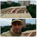 Укладка OSB на крышу каркасника