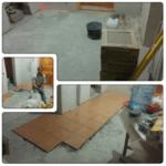 Укладка плитки на пол каркасного дома