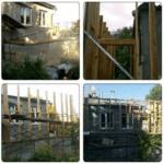 несущий каркас вкруг старого дома