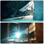 Устройство стоек крыши террасы