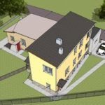 Визуализация дома после реконструкции