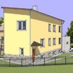 Визуализация бокового фасада дома после реконструкции