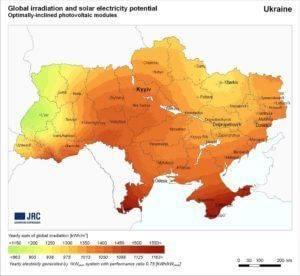 karta solnechnoy aktivnosti ukraine 300x276 - 7 основных вопросов по солнечным станциям
